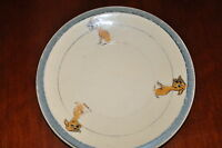 Roseville Baby Plate with 3 dogs  NEAT!