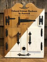 Antique Colonial Cabinet Hardware by Amerock Country General Store Display Sign