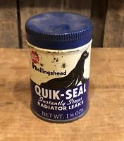 Vintage WHIZ Quick Seal Radiator Leaks Gas Service Station Tin Can
