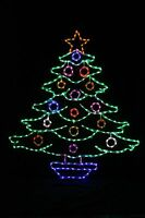 Decorated Christmas Tree LED metal wire frame outdoor yard lawn display