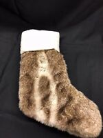 Pottery Barn Faux Fur Christmas Stocking NWT! No Monogram Multiples Available!