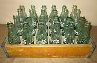 Coca Cola Wooden Case of Glass Bottles