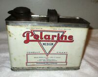 Antique 1/2 Gallon Polarine Motor Oil Can Tin Standard Oil Painted Not Decals!!