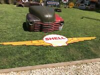 Antique Vintage Old Style Shell Aero Wings Aircraft Sign 13 Foot!
