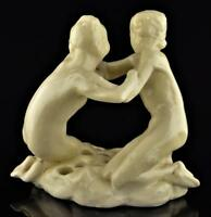 ROOKWOOD ART DECO FROG-2 GIRLS IN EMBRACE 1920-ORIGINAL MODEL CHESTER BEACH-X'ED