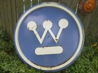 Vintage Porcelain Westinghouse advertising sign large 5#x27;