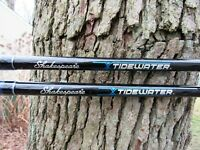2 SHAKESPEARE TIDEWATER 7 FOOT 20 40LB  TWBT2040C70 FISHING RODS