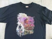 vintage BROTHERS IN THE WIND indian MOTORCYCLE tee shirt HARLEY 3d LARGE