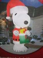 Snoopy And Woodstock Christmas Inflatable.Best Snoopy Inflatable Collectibles