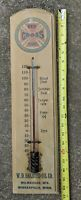 EARLY 1909 WOOD THERMOMETER SIGN RED CROSS OILS MINNESOTA WISCONSIN