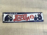 PEPSI COLA - Vintage 1950 Porcelain Enamel Sign Pete The Cops Characters