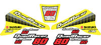 Yel & Red LT80 Quadracer Graphics Lt 80 Decals Stickers Quad Atv Quadsport girl
