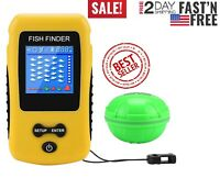 Adkwse Portable Fish Finder Wireless Transducer Fishfinder for Boat, Kayak Ice