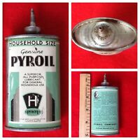 Vintage Pyroil Can Oil Lead 3 oz Rare Handy Household Oiler