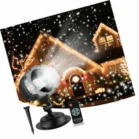 Christmas Snowfall Projector Lights, Syslux Indoor Outdoor Holiday Lights wit...