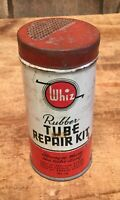 Vintage WHIZ Rubber Tube Repair Kit Tin Can W Original Content Advertising Sign