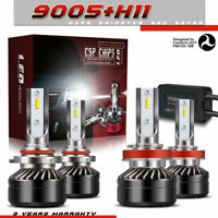 9005+H11 Combo LED Headlights High&Low Beam Light Bulbs 6000K 120W 12000LM PR70