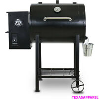 New Pit Boss 700FB Wood Fired Pellet Outdoor Patio Grill w/ Flame Broiler