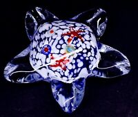 vintage Hand Blown Glass Art Starfish paperweight heavy excellent condition