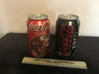 Coca Cola Zero Can 2007 and 1997 Santa Can 2 cans