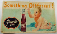 SOMETHING DIFFERENT BABY CRAWLING TO GRAPETTE SODA BOTTLE HEAVY DUTY METAL SIGN