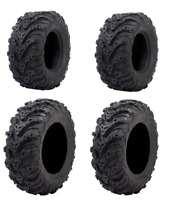 Tusk Mud Force 6 Ply Tire Set of 4 Tires (2) 25x8-12 (2) 25x10-12 ATV UTV Trail