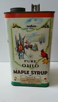 OLD VINTAGE PURE OHIO MAPLE SYRUP 1 GALLON TIN CAN