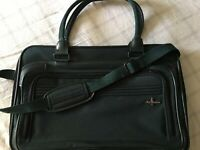 Vintage Atlantic Luggage Travel Bag Carry On Overnight Dark Green With Strap