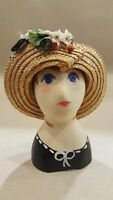 Hand Painted Millinery Mannequin Head Wig Hat #60/250