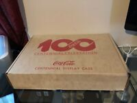 100 Year Coca Cola Centennial Celebration Wooden Display Case 18.5x13x3.75