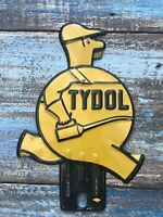Tydol License Plate Topper/ Yellow / Very Good Condition