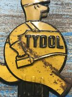 Tydol  License Plate Topper/ Yellow / Used/ Rat Rod/ Hot Rod