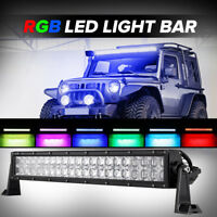 5D 24inch 400W CREE RGB Led Light Bar Multicolor Offroad Truck ATV Hunting 22