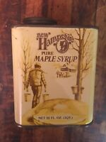RARE Vintage New Hampshire Maple Syrup 1 Quart  Advertising Can Collectible