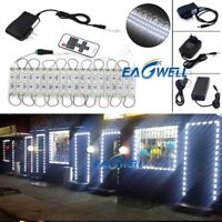 Cool White 10~100FT 5050 SMD 3 LED Module STORE FRONT Window Light Sign Lamp DIY