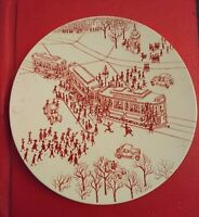 Vintage Nymolle Denmark limited edition Hand painted plate Copenhagen Streetcar