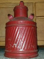 ANTIQUE VTG 30s CITIES SERVICE 5 GALLON BUTLER GAS OIL CAN EMBOSSED ADVERTISING