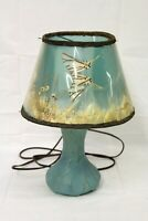 Vintage Van Briggle Lamp with Original Shade Blue Turquoise Real Butterfly Works