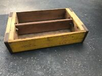 Vintage Yellow Wooden Coca-cola Coke Crate Bottle Carrier