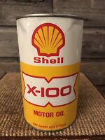 Vintage Shell Oil Can X-100