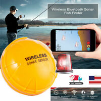 Portable Wireless Fish Finder With Sonar Transducer Fish Depth Detection Alarm