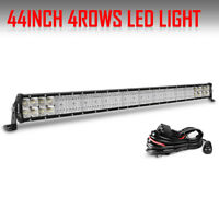 44Inch CREE Led Work Light Bar Combo Offroad Driving 4WD Truck ATV Ford 42