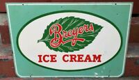 Vintage Breyers Ice Cream Double Sided Painted Metal Sign Large