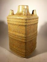 Wonderful Vintage Mid-Century Modern Japanese Studio Pottery Vase Crackle Glaze