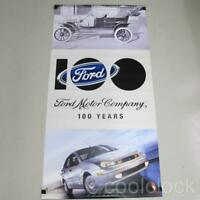 Ford Motor Company 100 Year Anniversary Display 2 Sided Advertising Banner B156a
