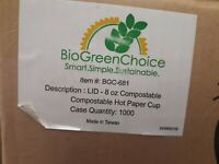 BioGreenChoice LID for 8 oz Compostable Compostable Hot Paper Cup - BGC-681