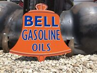 Antique Vintage Old Style Bell Gas Oil Sign