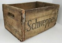 Vintage Schweppes Ginger Ale Soda Pop Wooden Crate Box Advertisement 15x10x8
