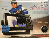 New Garmin echoMAP CHIRP 73cv w/ Transducer FREE Shipping