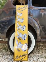 Antique Vintage Old Style Tall Michelin Tires Sign